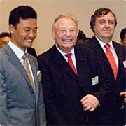 Mayor of Yokohama Hiroshi Nakada, Ginkel, and d'Orville